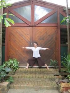 Yoga at the door