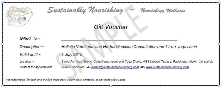 Snip of voucher 2014